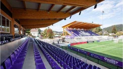 """Canada, il """"Westhills stadium"""" diventa green: un'azienda italiana realizza il primo impianto in legno lamellare"""